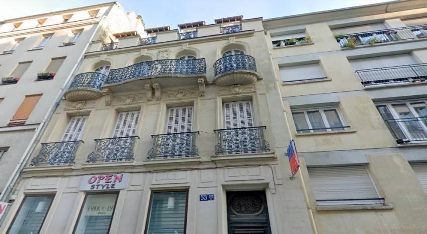 Le 53 bis rue Sedaine, Paris 11. © Google Maps