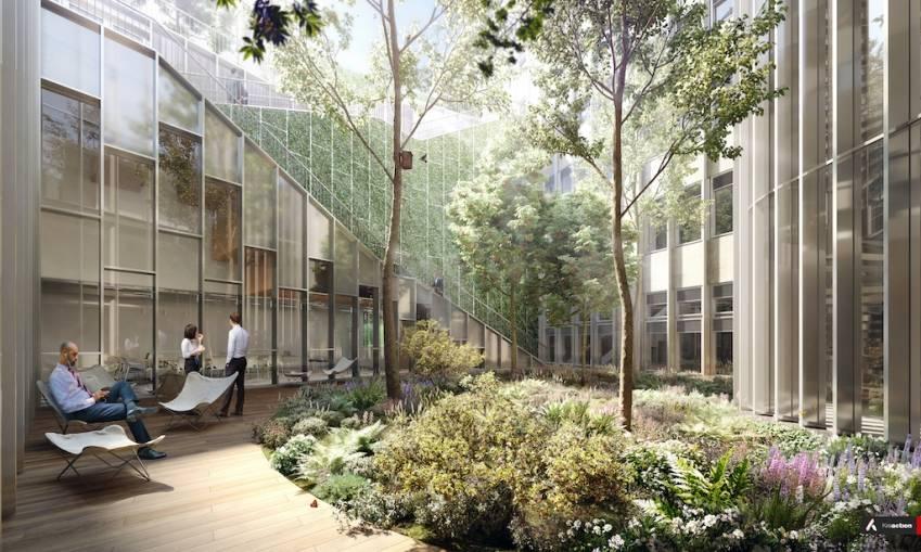 Le jardin intérieur du 83 Marceau.