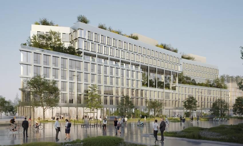 L'immeuble de bureaux #V3, à Saint-Ouen ,compte parmi les projets verts soutenus par la CDC en immobilier.
