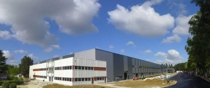 L'entrepôt carbone neutre d'Argan à Croissy-Beaubourg.
