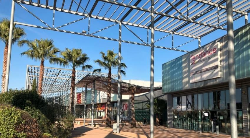 Le retail park Carré Sud à Nîmes.