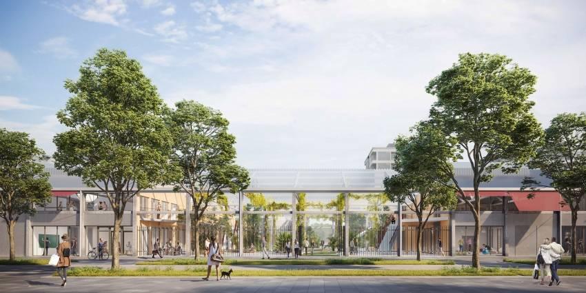 Le projet mixte des Halles de la Cartoucheries à Toulouse, porté par Cosmopolis et la CDC. © Chloé Bodart / Construire et OECO Architectes
