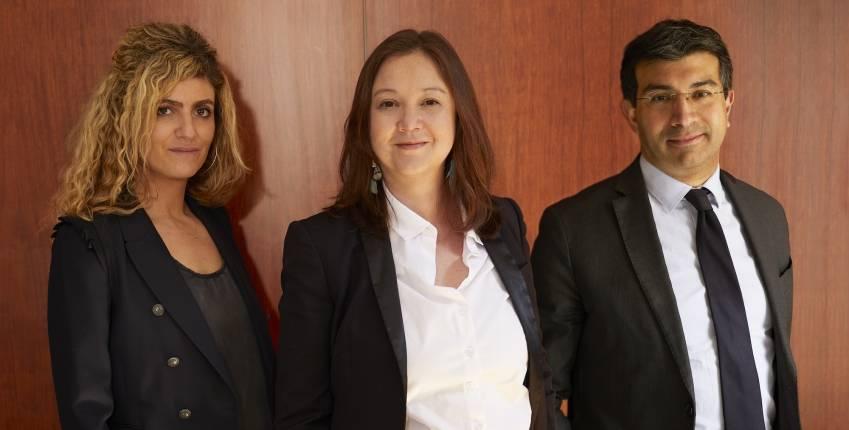 Les fondateurs de Faith Avocats, Jessica Soussan, Isabelle Maîtrejean et Maroun Abinader.