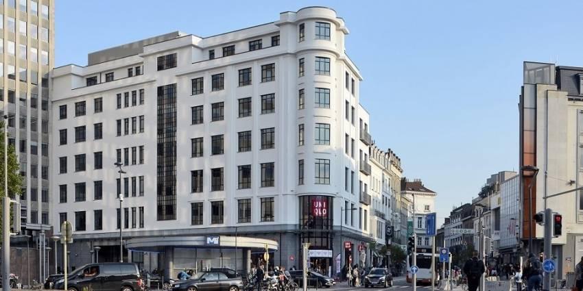 L'immeuble situé sur la place du Bastion, à Bruxelles.