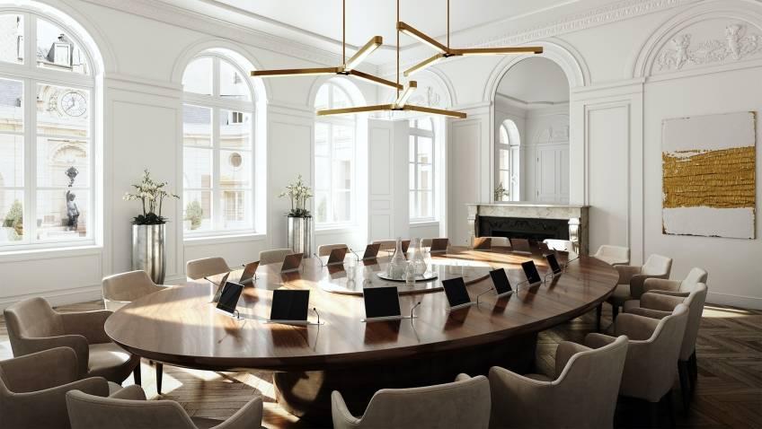 La salle du conseil du Dix Solférino. © Viguier