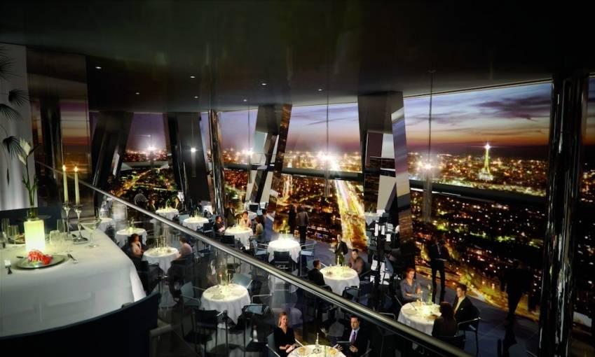 Le futur restaurant des tours Hermitage Plaza, à La Défense