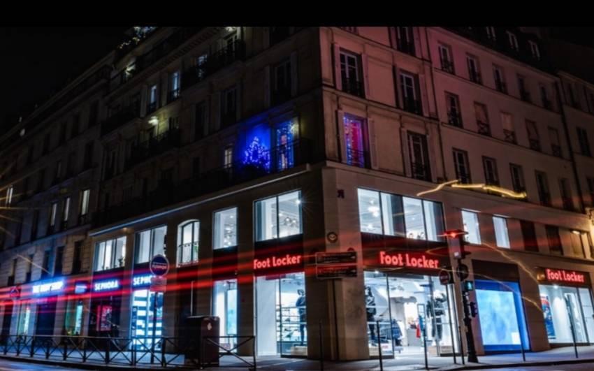 Les magasins Foot Locker et Sephora de la rue de Rivoli. DR