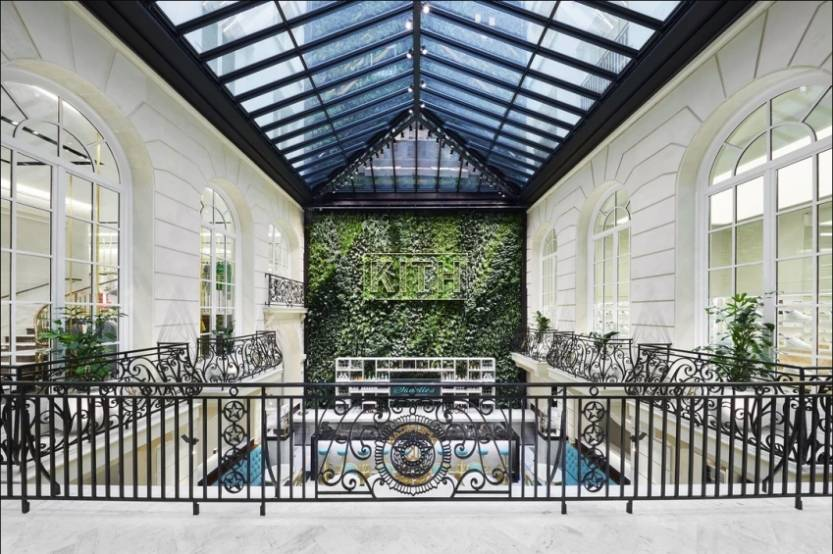 Le Pershing Hall a été transformé en immeuble de bureaux, avec un restaurant sous verrière. © Kith