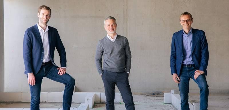 Les trois dirigeants de Rise PropTech Fund.
