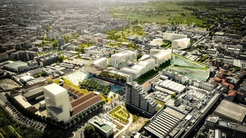 Le quartier Symbiosis à Milan, développé par Covivio.