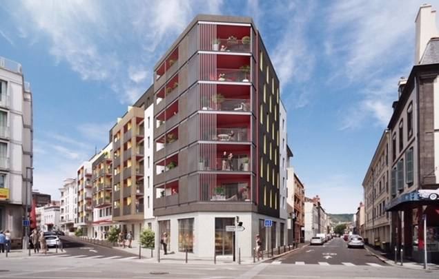 La future résidence Cazam de Clermont-Ferrand. © Asylum
