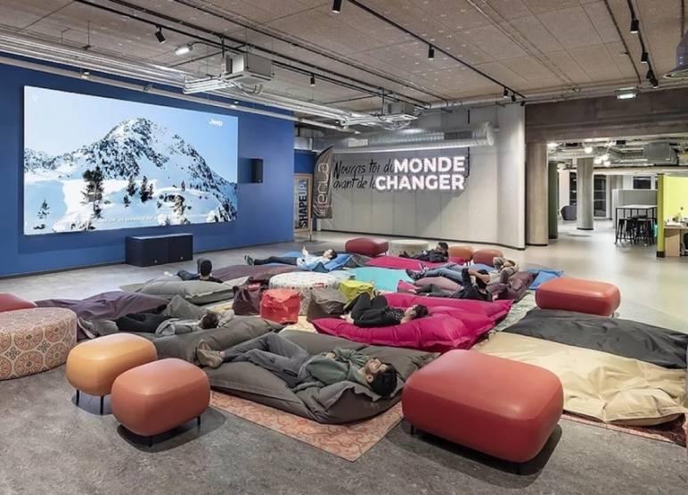 Les 40 000 m2 dédiés au coliving étudiant sur le site d'Ecla Massy-Palaiseau. © Uxco