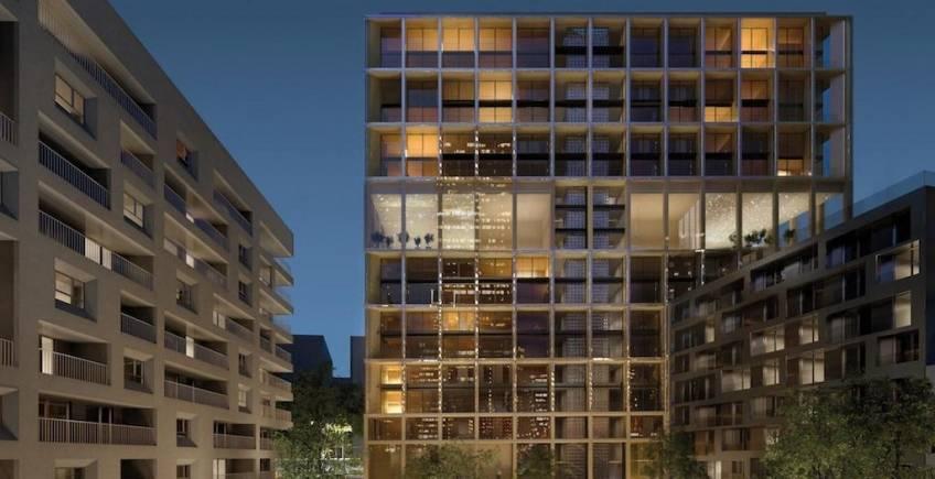 Le projet Wood'Up, dans le 13e arrondissement de Paris.