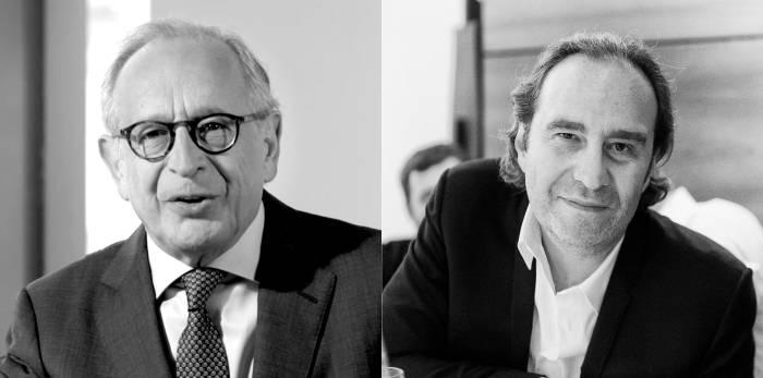 Léon Bressler et Xavier Niel, actionnaires d'Unibail-Rodamco-Westfield. © Refocusnotreset