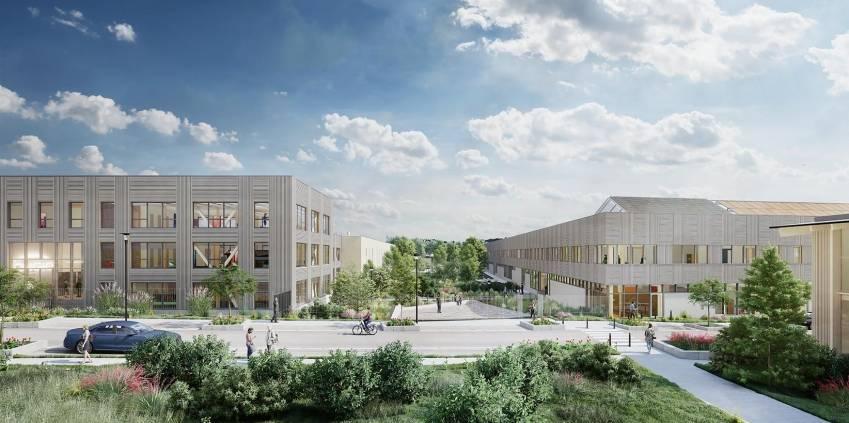 Le campus Urban Valley. © Foncière Atland