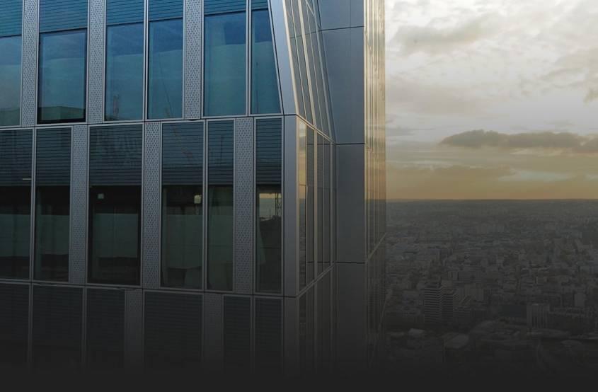La tour Majunga, à La Défense, est notamment dans le portefeuille géré par L'Etoile Properties. © Eiffage Construction