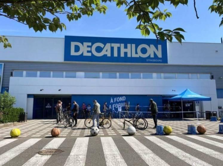 Le Décathlon de Strasbourg Hautepierre.