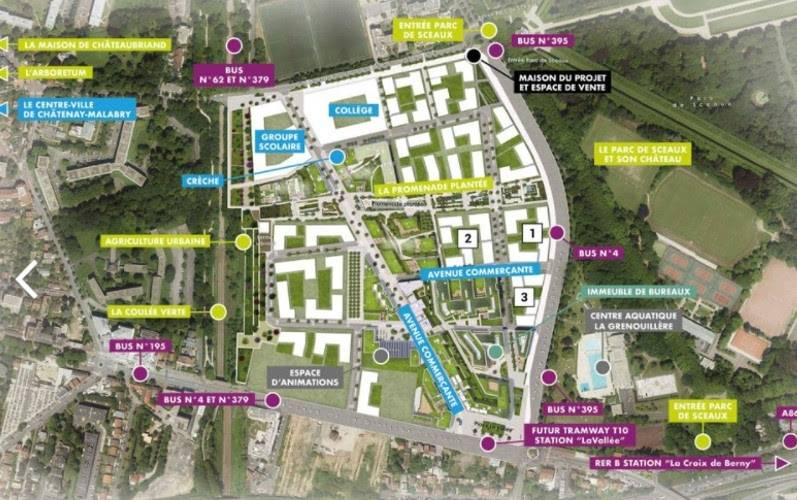 Le futur écoquartier de Chatenay-Malabry