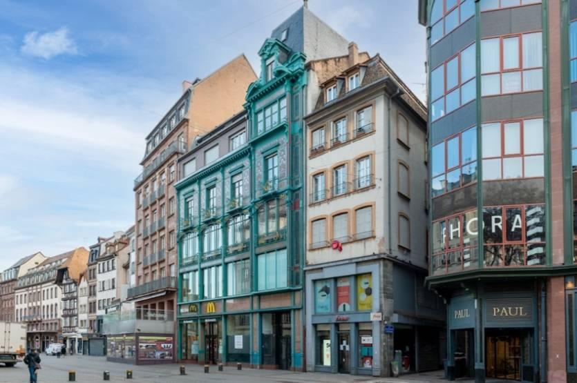L'ensemble du 33/35/37/39 rue des Grandes Arcades à Strasbourg.