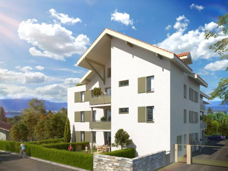 L'immeuble acquis en vefa dans le pays genevois à Messery, en Haute Savoie.