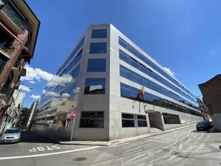 L'immeuble de bureaux de la Calle Lérida, 32-34, à Madrid.