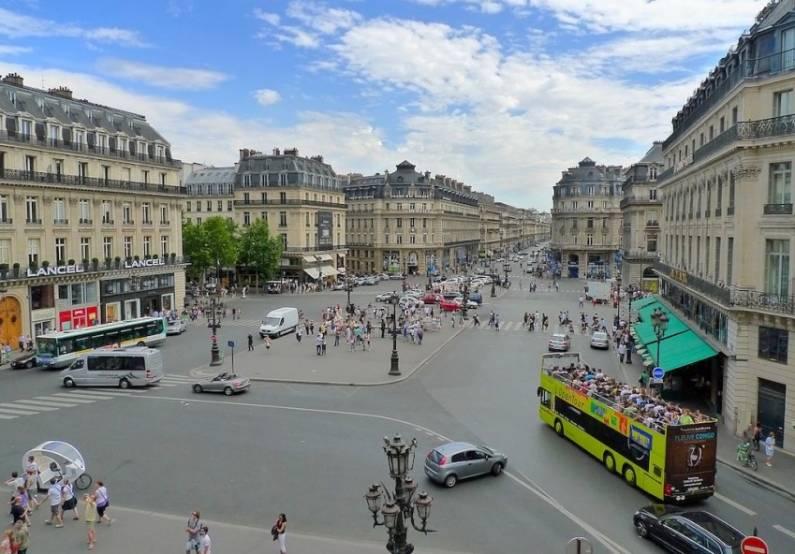 Le quartier de l'Opéra à Paris. DR