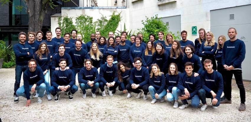 L'équipe de la proptech Hosman, basée à Paris.