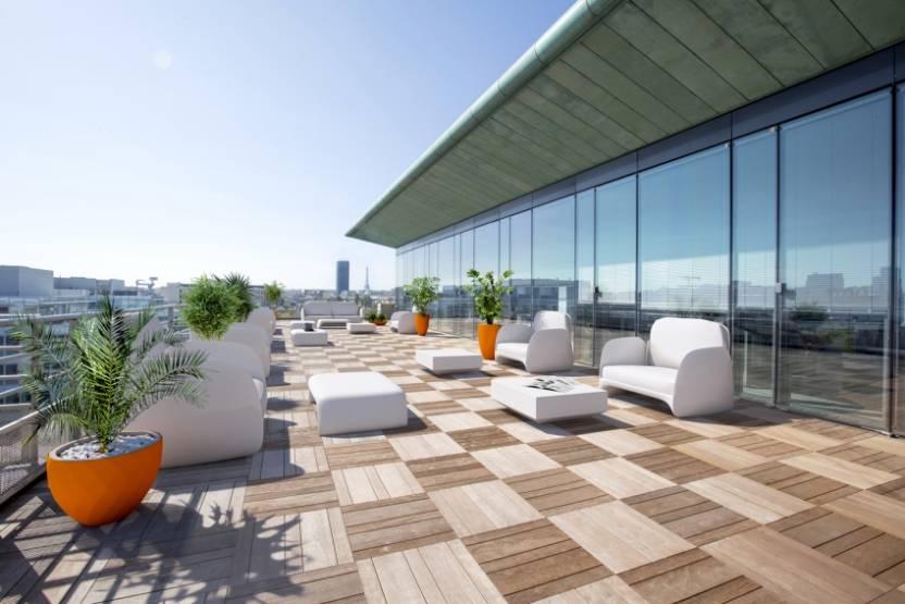 Les terrasses de l'immeuble Crystal Park, à Neuilly-sur-Seine. © Valode & Pistre