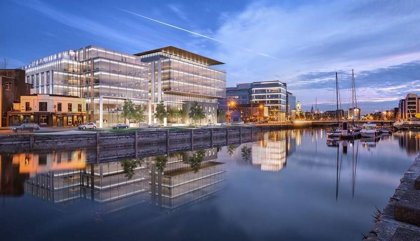 Le complexe Navigation Square à Cork, en Irlande. © O'Callaghan Properties