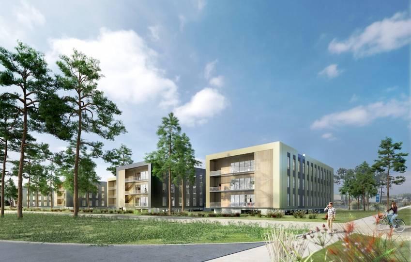 L'ensemble Arko à Mérignac, qui développera 9 300 mètres carrés. © Aventim