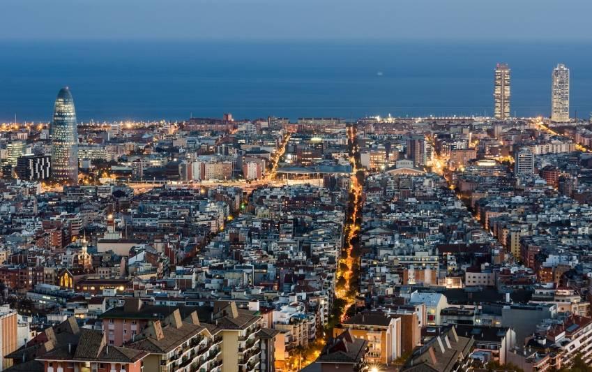 Le quartier de l'Eixample à Barcelone. © Maciek Lulko