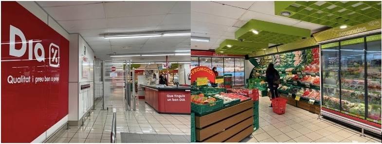 Le supermarché Dia de Barcelone.