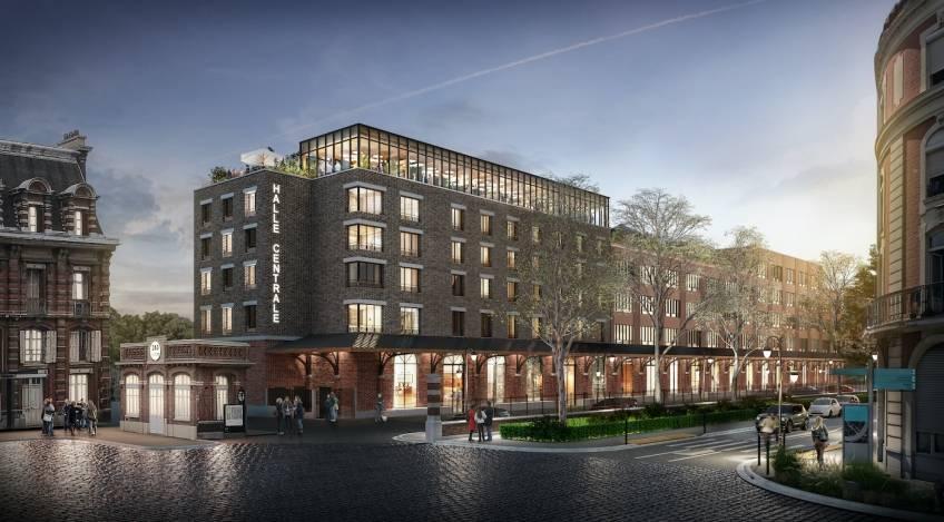 La Halle Centrale à Tourcoing, qui accueillera notamment le siège de Vertbaudet. © Aventim