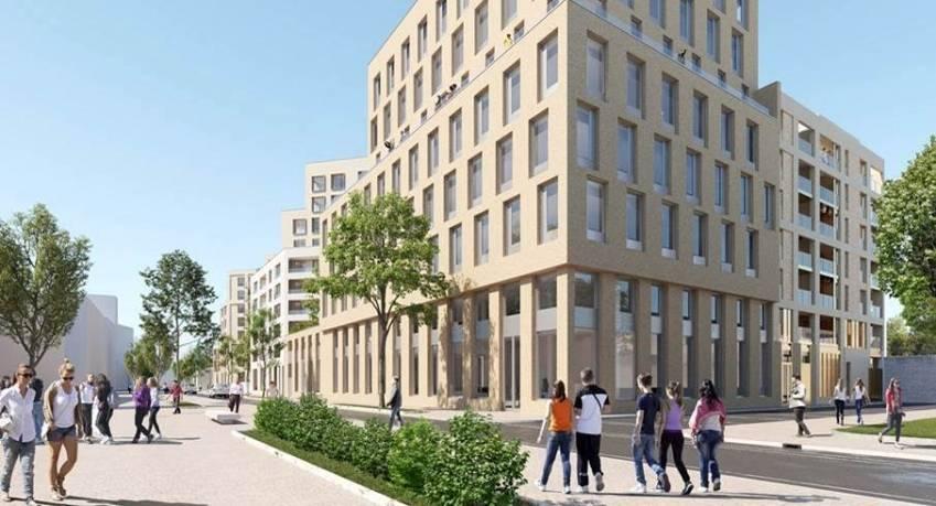 L'immeuble de bureaux Cœur de Garonne à Bordeaux.