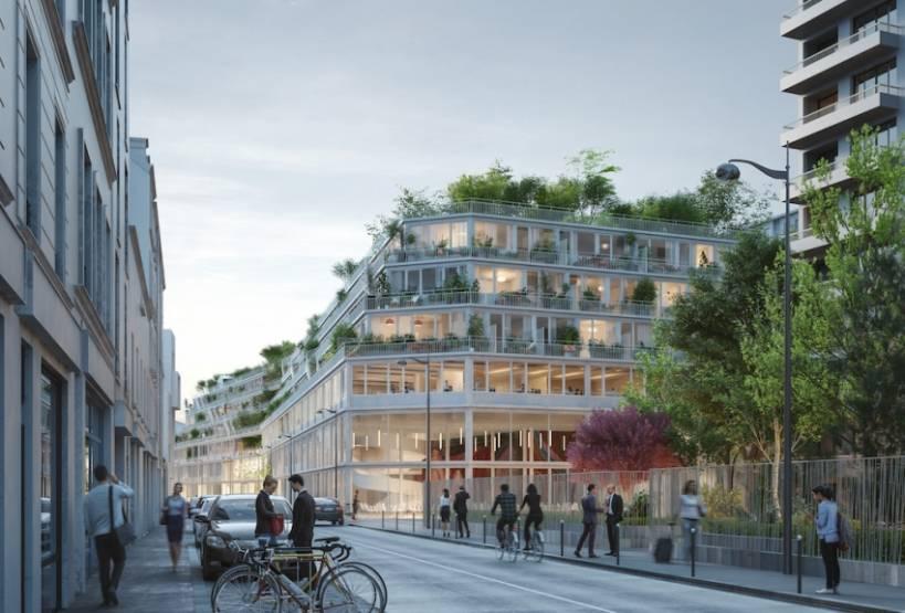 Vue du projet depuis la rue des Poissonniers. © Chartier Dalix et IdaPlus