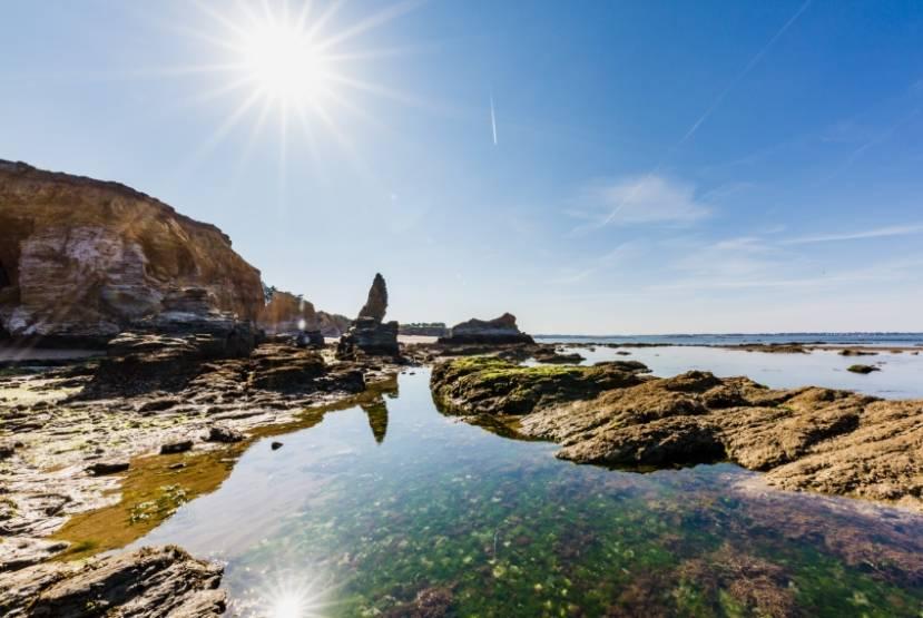 Le rivage de la presqu'île de Guérande. © DR