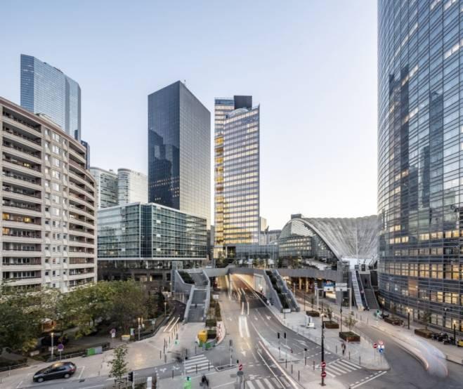 La tour Trinity, livrée début 2021 à La Défense.
