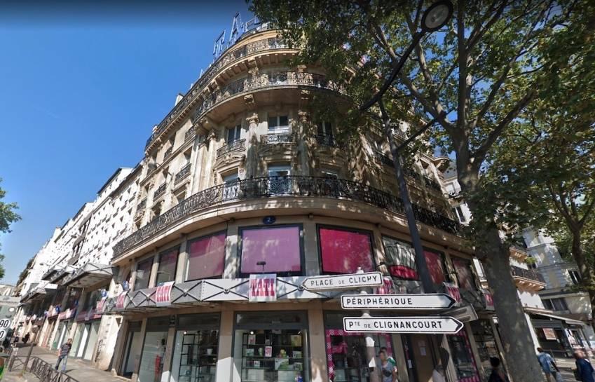 L'historique magasin Tati, le premier ouvert par l'enseigne en 1948, boulevard de Rochechouart, dans le 18e arrondissement de Paris.