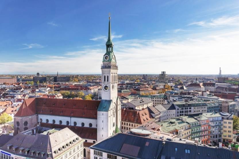La ville de Munich, en Allemagne.