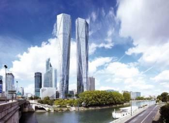 Les tours Hermitage Plaza, à La Défense