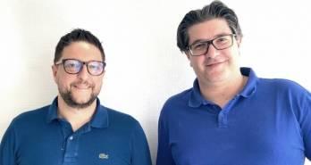 Les deux fondateurs des Agences de Papa. À gauche, Frédéric Ibanez, à droite, Nicolas Fratini.