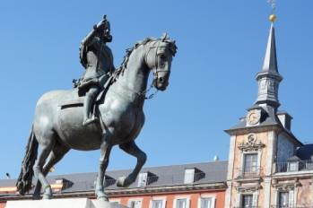 La Place principale de Madrid, en Espagne