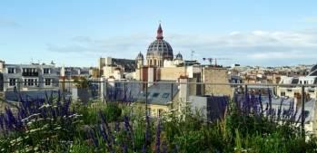 Vue sur Paris depuis la terrasse du 8 Penthièvre. © PCA-Stream