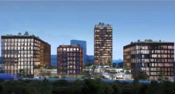 Le projet mixte Amazing Amazones à Nantes, dont BNP Paribas s'offre les 16 200 mètres carrés de bureaux.