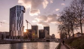 La tour résidentielle Elithis Danube à Strasbourg, à énergie positive, livrée en 2018.